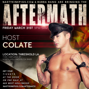 Look who's coming to AFTERMATH March 31st! AM-ColateAM-GeorgeAM-JackAM-JC