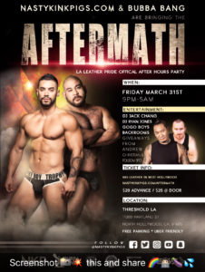 Have you bought your tickets yet to AFTERMATH? Get them in advance @ 665 in West Hollywood or online
